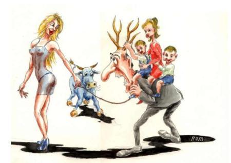 Карикатура, Владимир Романов (Ром)