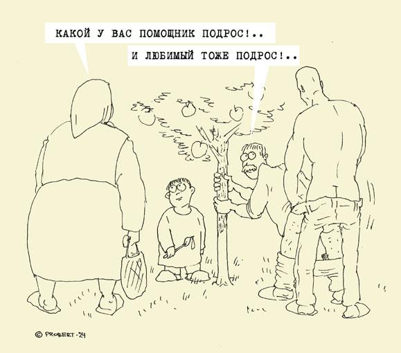 """Карикатура, Илья (""""Probert"""") Салаткин"""